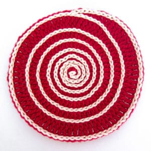 Superwhirl Crochet Coaster Pattern