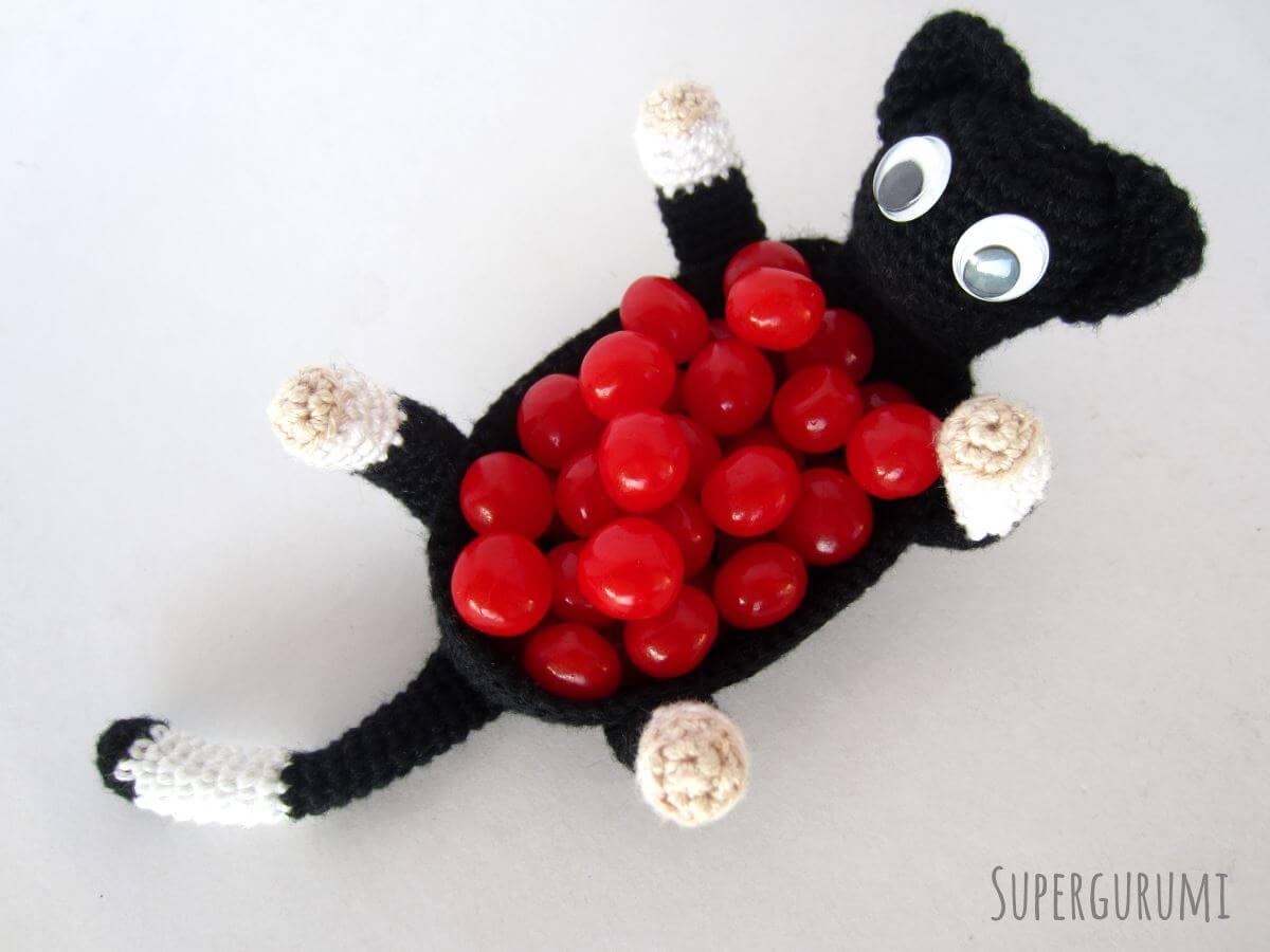 Amigurumi Small Cat : Amigurumi Crochet Cat Basket -