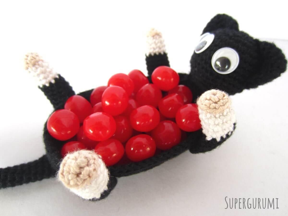 Amigurumi Crochet Cat Basket -