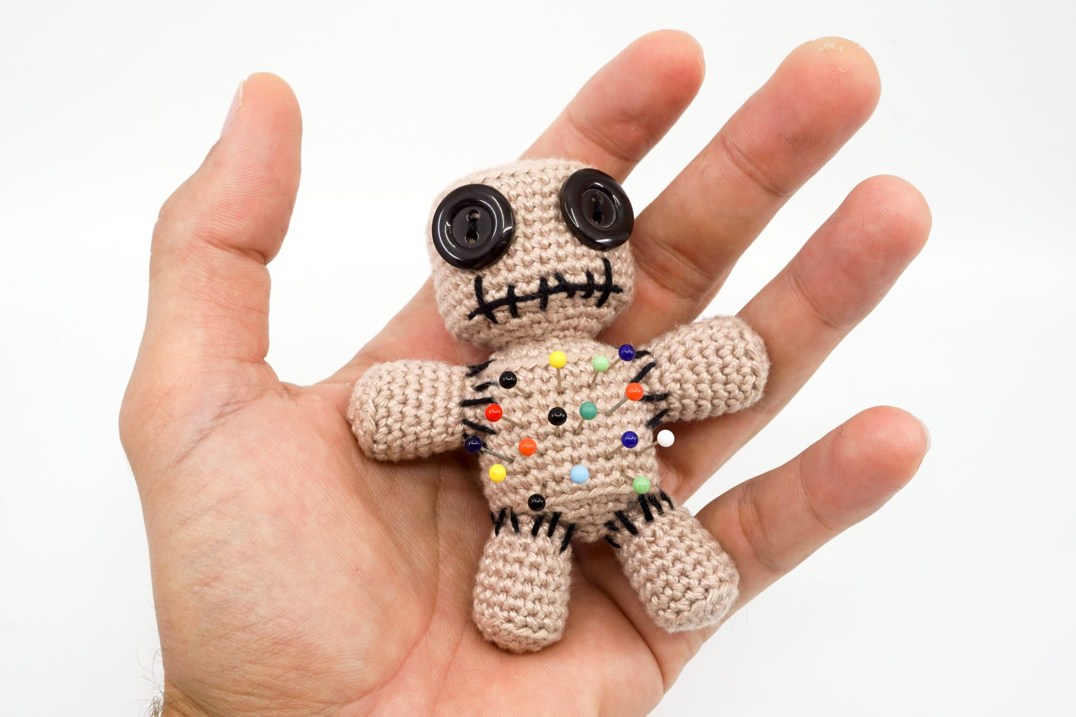 Voodoo Doll Pincushion Crochet Pattern - Supergurumi