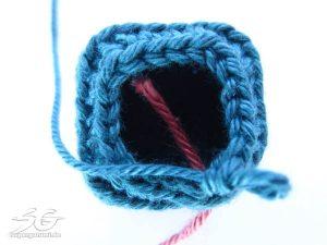 Crochet Cube Round 12