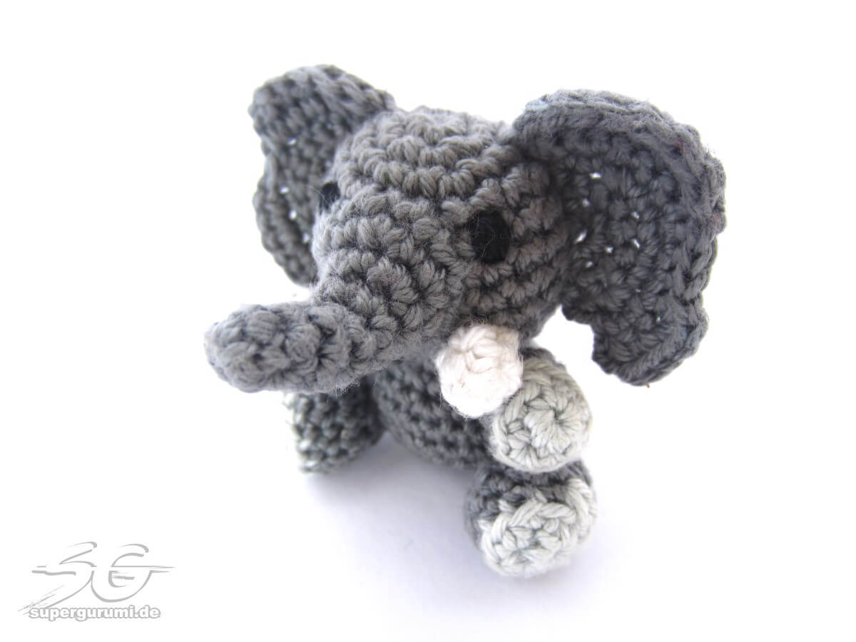 Crochet Patterns Elephant : Amigurumi Crochet Elephant Pattern - Supergurumi