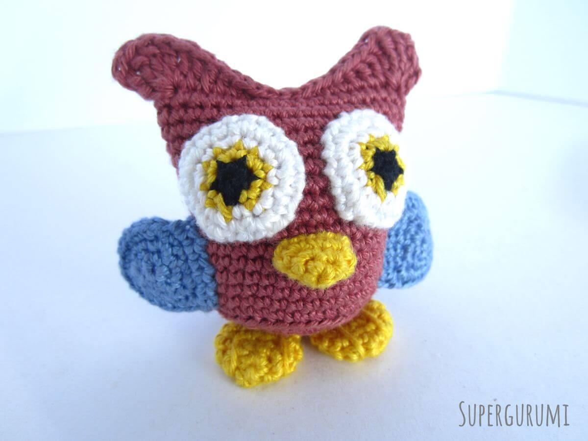 Free crochet pattern: Small amigurumi owls | 900x1200