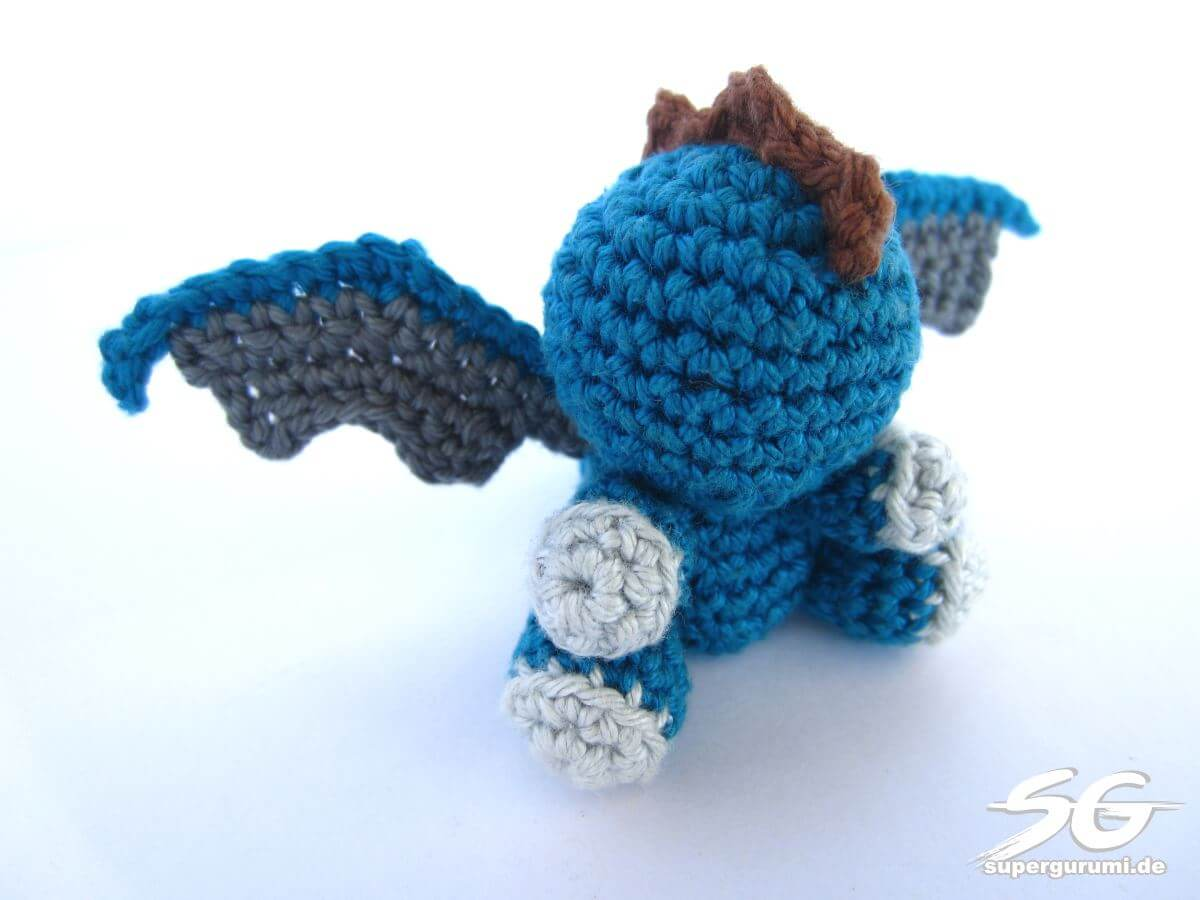 Amigurumi Dragon Wings Pattern : Amigurumi Crochet Dragon Pattern - Supergurumi