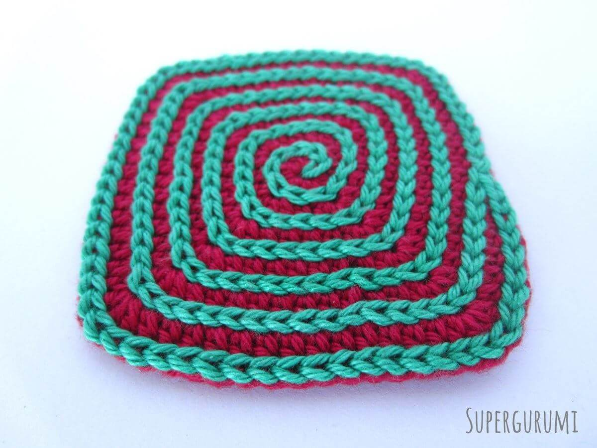 Square crochet coaster pattern supergurumi square crochet coaster pattern bankloansurffo Images