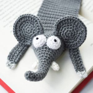 Amigurumi Elephant Bookmark Crochet Pattern