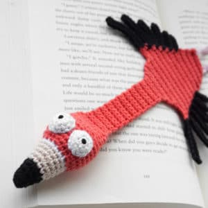 Amigurumi Flamingo Bookmark Crochet Pattern