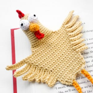 Amigurumi Chicken Bookmark Crochet Pattern