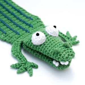 Amigurumi Crocodile Bookmark Crochet Pattern