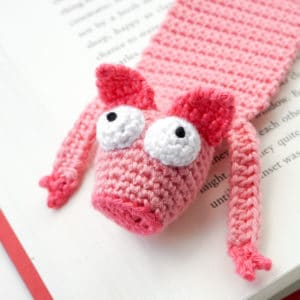 Amigurumi Pig Bookmark Crochet Pattern