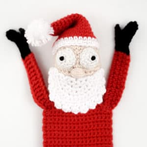 Amigurumi Santa Bookmark Crochet Pattern