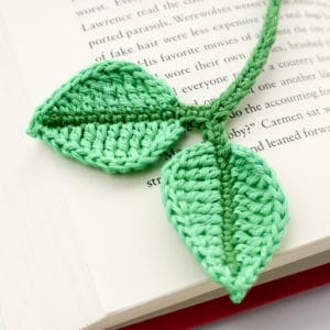 Leaf Bookmark Crochet Pattern